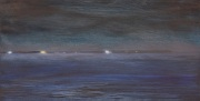 View from the Ferry - Night Crossing, oil on panel, 6 x 12 in., $350.00