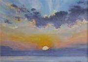 Sublime Sunrise, oil on panel, 5 x 7 in., $215.00