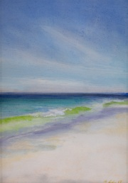 Beach Day, oil on panel, 5 x 7 in., $215.00