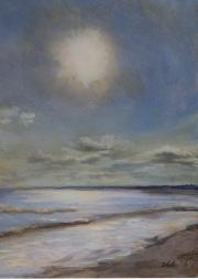 Horseneck Sun, oil on panel, 5 x 7 in., $215.00