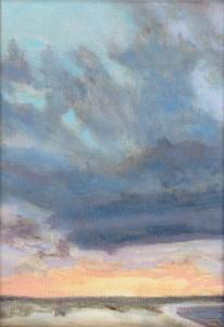 State Beach Study, oil on canvas, 5x7, framed, $185