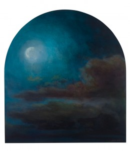 Waning Moon Waxing Eternity, 30.5 x 28, oil on panel, $2,500